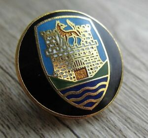 VOLKSWAGEN Pin / Pins:  VW Logo - Käfer (Hupenknopf) - emailliert - Rar!
