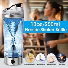 USB Charging 250mL Protein Blender Shaker Mixer Bottle Drink Cup Gym Fitness