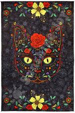"3D Sugar Kitty Tapestry Tablecloth Beach Sheet Hippie Psych Wall Art HUGE 60x90"""