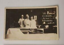 Vintage Photograph B&W c1920 kitchen bakery cooking cauldron apothecary ladies