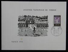 Af6** Document philatélique 1976 Journée du Timbre Cachet Nancy n°1870 SAGE