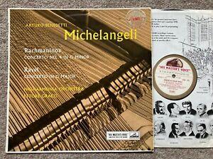 ASD 255 Rachmaninov & Ravel Piano Concertos Michelangeli Philharmonia Gracis