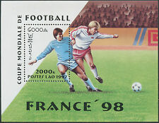 "LAOS Bloc N°140** Bf Football ""France 98"",  1997, Soccer world cup SC#1347 MNH"