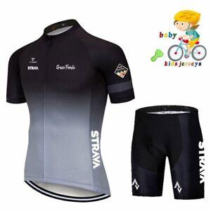 New Kids Cycling Jersey Bib Shorts Set Bike Clothing Bicycle Short Team Racing