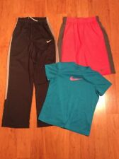 Nike Dri Fit Boys Youth Pants Shorts And Tshirt Gray Red Blue Size L