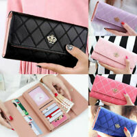 Trendy Lady Women Leather Clutch Wallets Long Holders Case Purse Hand Bags Stock