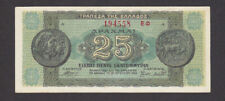 25 Million Drachmai Ef-Aunc Banknote From German Occupied Greece 1944 Pick-130