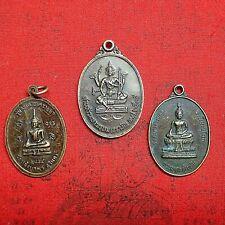 Thai Amulet Buddha Brass Coins Phra Phrom Powerful Buddha Protect Talisman