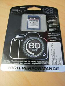 Genuine PNY Elite 128GB SD SDXC Card, UHS-I, Class10, 80MB/s