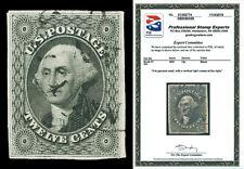 Scott 17 1851 12c Washington Issue Used VF Light Cancel Cat $250 with PSE CERT!