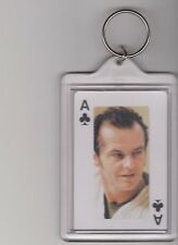ONE FLEW OVER THE CUCKOOS NEST KEYCHAIN JACK NICHOLSON ACE OF CLUBS