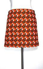 J CREW Skirt Orange Brown Cotton Mini Short Sz 4