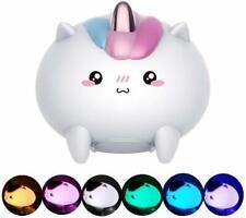 Luce Notturna LED Lampada Dimmerabile Unicorno Bambini da Comodino Ricarica USB