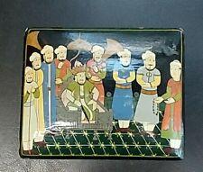 Hand-made Wooden Box M. Qasim & Bro Kashmir 4 1/4 x 1 1/2 x 3 1/2