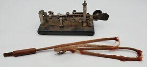 RARE 1920s Vibroplex Telegraph Communication Key W/Cord #87506 825 Broadway NY