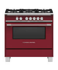 """New listing Fisher & Paykel 36"""" Red Color Gas Range-Brand New!"""