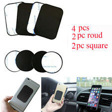 4PCS/Pack Metal Plate Magnetic Magnet Car Mobile Phone GPS Holder Mount Sticker