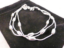 Silver Plated Multi Strand with Silver Beads Cuff /Bangle/Bracelet Free Gift Bag