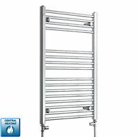 900 mm High 550 mm Wide Flat Chrome Heated Towel Rail Radiator Bathroom Warmer