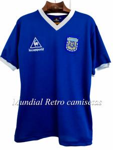 Maradona world cup 1986 Argentina blue jersey maglia camiseta  (retro)