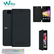 Custodia Flip Cover Case Originale Wiko Nero Per Highway 4G