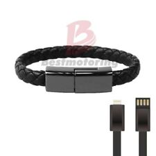 """8.8""""Bracelet Lightning Line Data Charging Cord for iPhone Leather Charger L Size"""