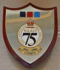 Navy Army & Air Force Institutes Cyprus 1921- 1996 desk plaque shield NAAFI