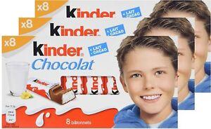Kinder Chocolate Bars100g/3.52oz (Pack of 3) Exp:12/06/21 US Seller