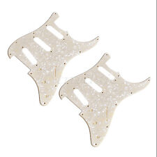 2pcs Yellow Pearl Guitar Pickguard Scratch Plate for Fender Strat Parts SSS