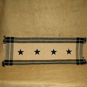 """36"""" Black Simply Stars Table Runner Country House Collection"""