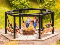 NOCH HO SCALE 1/87 BARBECUE PLACE WITH SWINGS | BN | 14369