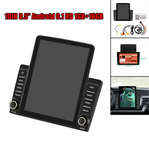 "9.5"" 2DIN Android 9.1 HD Touch Screen 1GB+16GB Car Stereo Radio GPS MP5 Player"