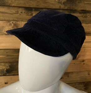 HTF NEW WITH TAG GAP Unisex Blue Corduroy NEWSBOY HAT 100% Cotton Size M/L