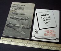 Vintage 1946 Aero Modeller Plans Catalogues Solids & Flying Models