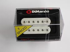 DiMarzio F-spaced Titan Bridge Humbucker White W/Chrome Poles DP 259