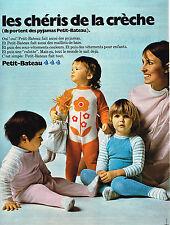 PUBLICITE ADVERTISING 024   1971   PETIT-BATEAU   pyjamas