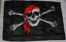 Pirate With Red Bandana 3x5 ft. Flag Jolly Roger/Rodger NYLON