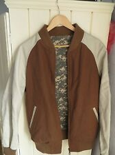 Temple of Jawnz TOJ1 2011  Reversible Varsity Jacket Brown/Camel Digicam Stock48