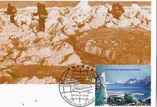 Russia 2007 International Polar Year Maxi Card Polar tripp with stamp FDC