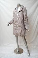 FEATHERS Beige Lightweight Tran-Seasonal Longline Hooded Parka Jacket Coat L/12