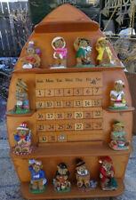 Danbury Mint Teddy Bear Perpetual Calendar Figurines With Wall Display