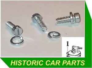 HS2 SU Carb FLOAT LID SCREWS x 3 for MORRIS Mini Cooper Mk 1 997cc 998cc 1960-66