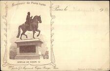 Paris 1900 Expo? Statue de Henri IV Postcard
