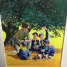 Mel Crawford Original Illustration Cover for 1959 Cub Scouts Little Golden Book