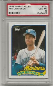 1989 TOPPS TRADED #41T KEN GRIFFEY JR. ROOKIE, PSA 10 GEM MINT, HOF, L@@K !