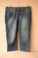 """Blaue Damen-Stretch-3/4-Jeans """"Two Days Later"""" von Colours of the World, Gr. 36"""
