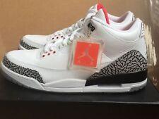 Air Jordan 3 III Retro 2011 White Cement Grey Black Red Basketball NEW men 10 44