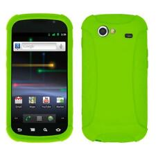 AMZER SILICONE SOFT SKIN JELLY FIT CASE COVER FOR GOOGLE NEXUS S - GREEN