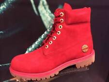 TIMBERLAND 6 Inch PREMIUM 40th Ruby Red FIRE Waterproof Suede Leather Snow  BOOTS c981a0d43