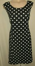 LADIES GORGEOUS BLACK WHITE SPOTTED PARTY DRESS SIZE 16 UK BY JOANNA HOPE
